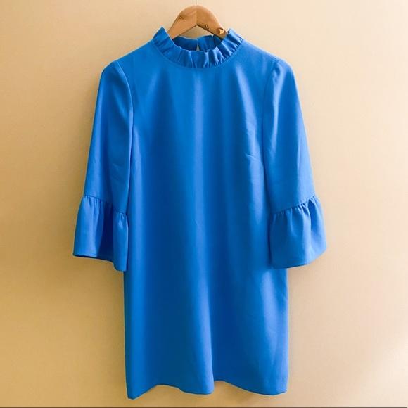 J. Crew Blue Ruffle dress size 6
